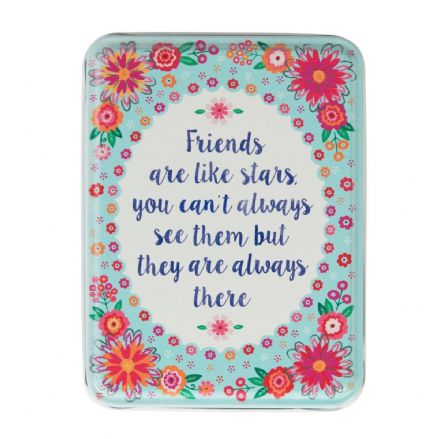 Over 50% off FRIENDS ARE LIKE STARS FLOWER POP STORAGE TIN